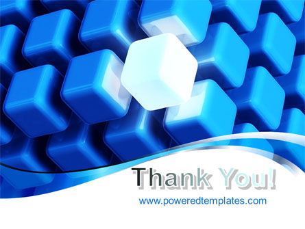 Blue Cubes Conglomerate PowerPoint Template Slide 20