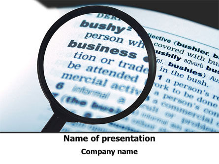 Definition of Business PowerPoint Template, 09709, Business — PoweredTemplate.com