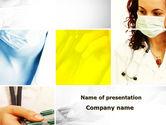 Medical: 파워포인트 템플릿 - 의사와 약 #09710