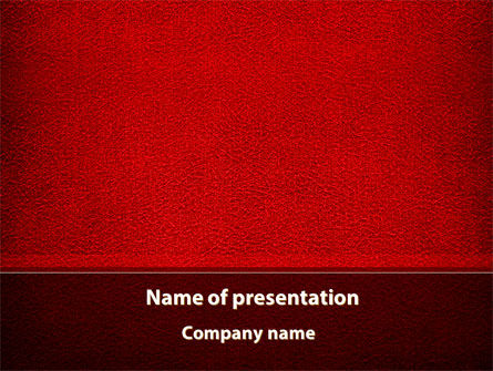Red Silk Backing PowerPoint Template