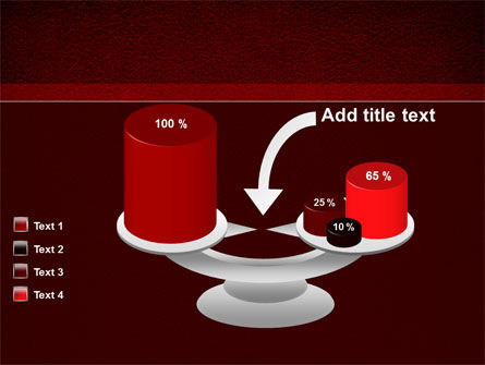Red Silk Backing PowerPoint Template Slide 10