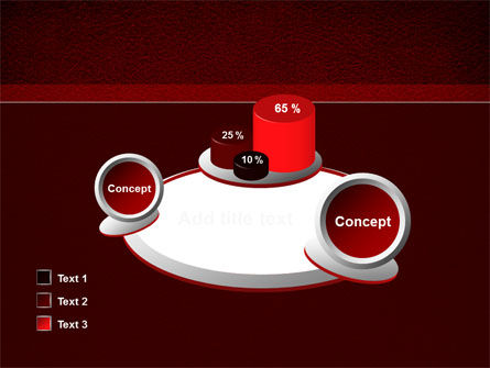 Red Silk Backing PowerPoint Template Slide 16
