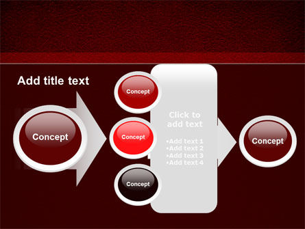 Red Silk Backing PowerPoint Template Slide 17