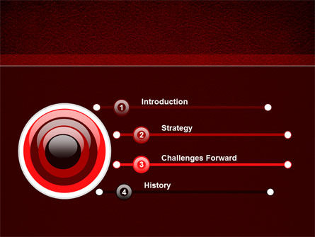 Red Silk Backing PowerPoint Template Slide 3