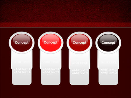 Red Silk Backing PowerPoint Template Slide 5