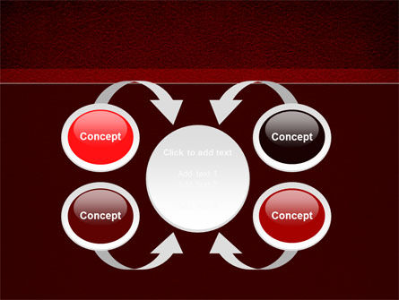 Red Silk Backing PowerPoint Template Slide 6