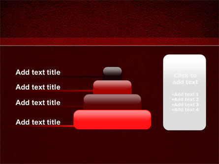 Red Silk Backing PowerPoint Template Slide 8