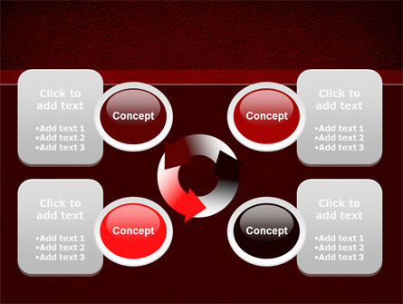 Red Silk Backing PowerPoint Template Slide 9