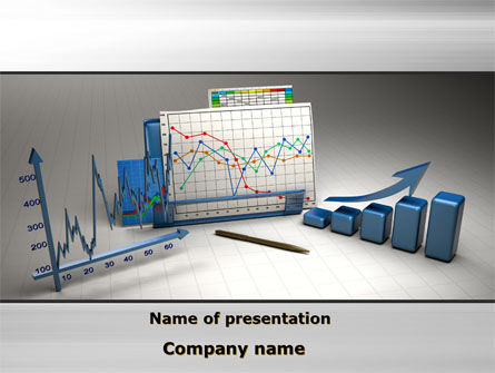 Three-Dimensional Charts PowerPoint Template