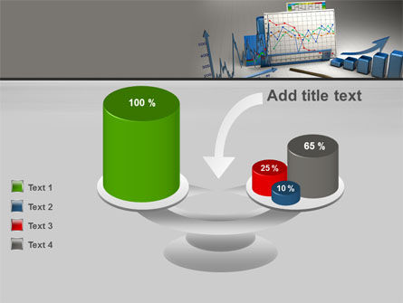 Three-Dimensional Charts PowerPoint Template Slide 10