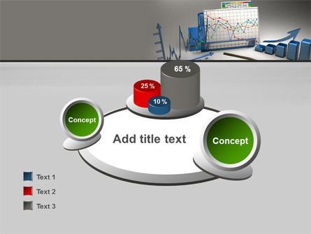 Three-Dimensional Charts PowerPoint Template Slide 16