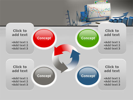 Three-Dimensional Charts PowerPoint Template Slide 9