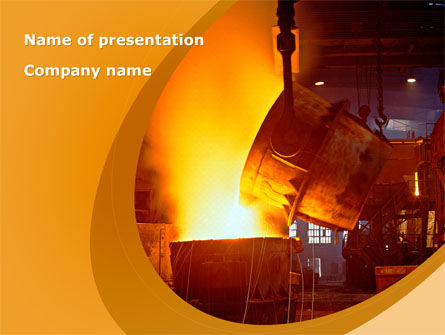 Steel Industry PowerPoint Template, 09715, Careers/Industry — PoweredTemplate.com