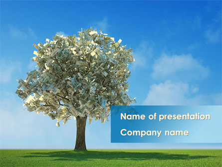 Nature & Environment: Money Tree At The Bright Sun PowerPoint Template #09716
