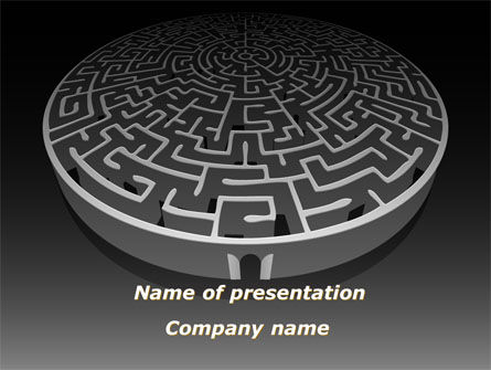 Fortress Labyrinth PowerPoint Template