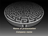 Business Concepts: Fortress Labyrinth PowerPoint Template #09717