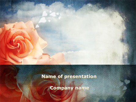 Tender Roses PowerPoint Template, 09723, Holiday/Special Occasion — PoweredTemplate.com