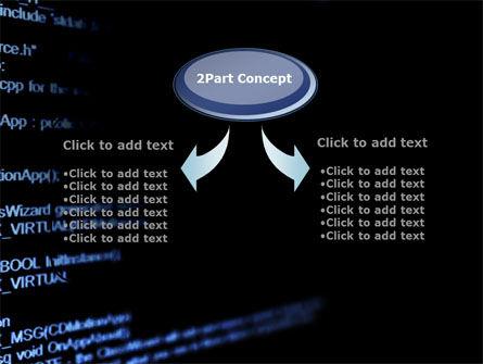 C + + Program Code PowerPoint Template, Slide 4, 09725, Technology and Science — PoweredTemplate.com