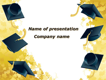 Mortarboard Ahead PowerPoint Template, 09726, Education & Training — PoweredTemplate.com