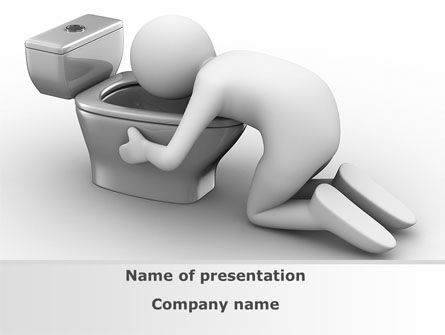 Hugging Toilet Bowl PowerPoint Template
