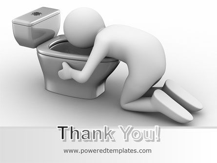 Hugging Toilet Bowl PowerPoint Template Slide 20