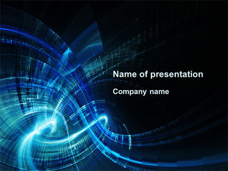 Abstract Blue Halo PowerPoint Template, 09728, Abstract/Textures — PoweredTemplate.com