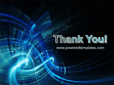 Abstract Blue Halo PowerPoint Template Slide 20