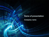 Abstract/Textures: Abstract Blue Halo PowerPoint Template #09728