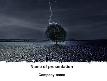 Stormy Weather PowerPoint Template, 09730, Nature & Environment — PoweredTemplate.com