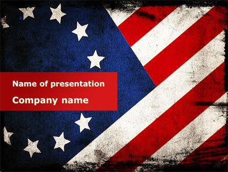 Betsy Ross Flag The First American Flag PowerPoint Template, 09731, America — PoweredTemplate.com