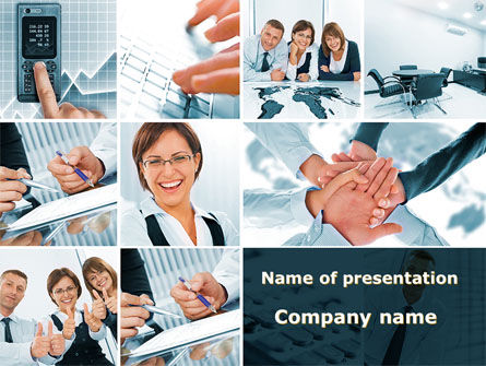 People: Team Of Like-Minded PowerPoint Template #09735