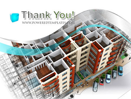 Model Of Apartment House PowerPoint Template Slide 20