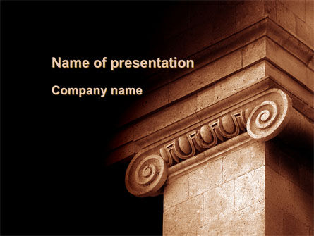 Ionic Capitals PowerPoint Template, 09741, Art & Entertainment — PoweredTemplate.com