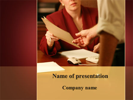Transfer Of Documents PowerPoint Template