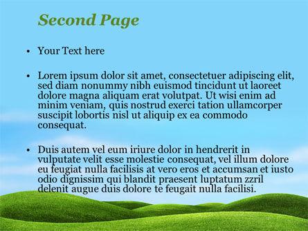 Green Fields PowerPoint Template, Slide 2, 09745, Nature & Environment — PoweredTemplate.com