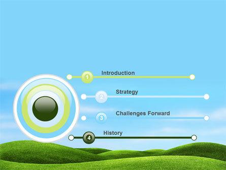 Green Fields PowerPoint Template, Slide 3, 09745, Nature & Environment — PoweredTemplate.com