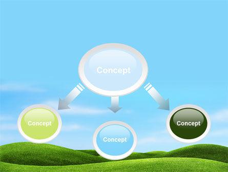 Green Fields PowerPoint Template, Slide 4, 09745, Nature & Environment — PoweredTemplate.com