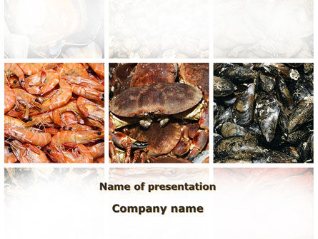 Shrimps And Crabs With Oysters PowerPoint Template