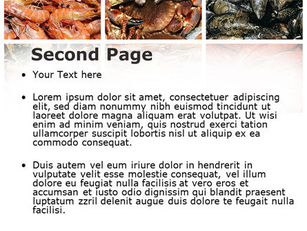 Shrimps And Crabs With Oysters PowerPoint Template Slide 2