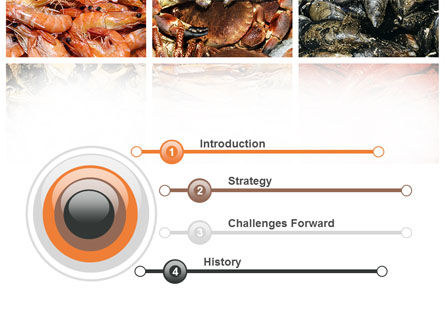 Shrimps And Crabs With Oysters PowerPoint Template Slide 3