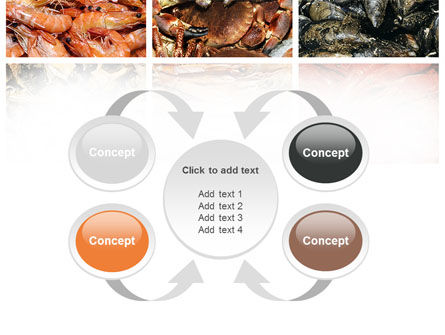 Shrimps And Crabs With Oysters PowerPoint Template Slide 6