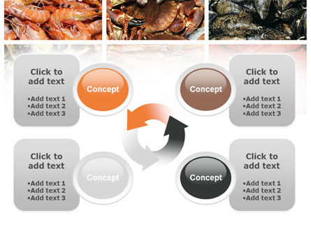 Shrimps And Crabs With Oysters PowerPoint Template Slide 9
