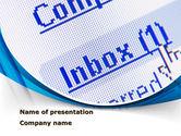 Telecommunication: E-mail Inbox PowerPoint Template #09747