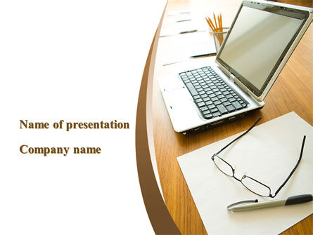 Business Concepts: Office Workplace PowerPoint Template #09748