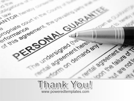 Personal Guarantee PowerPoint Template Slide 20