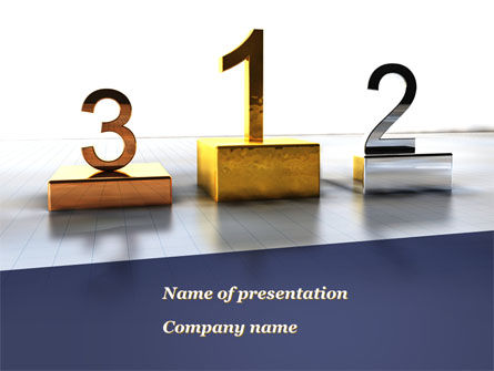 Pedestal Of Champions PowerPoint Template