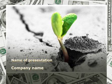 Financial/Accounting: Sprout Of Money Tree PowerPoint Template #09751