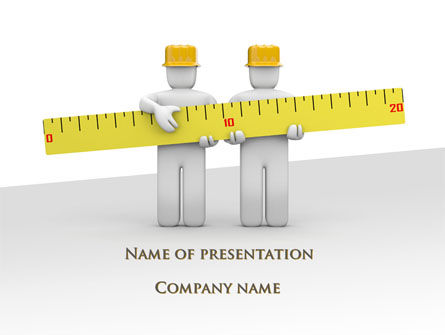 Measurements PowerPoint Template, 09752, Construction — PoweredTemplate.com