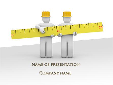 Construction: Measurements PowerPoint Template #09752
