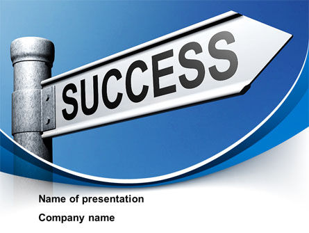 Way To Success PowerPoint Template, 09753, Consulting — PoweredTemplate.com